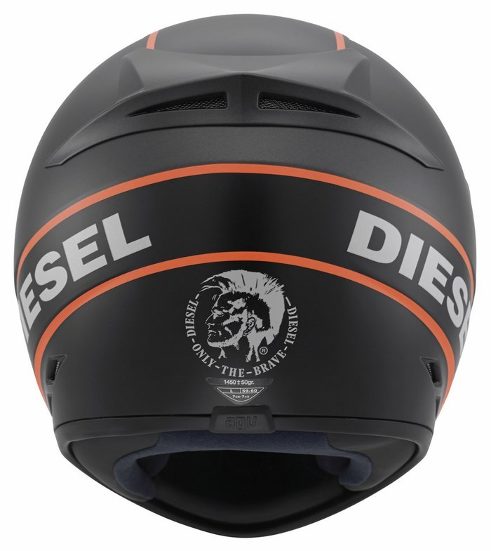 Diesel Full-Jack Multi helmet matt grey black orange