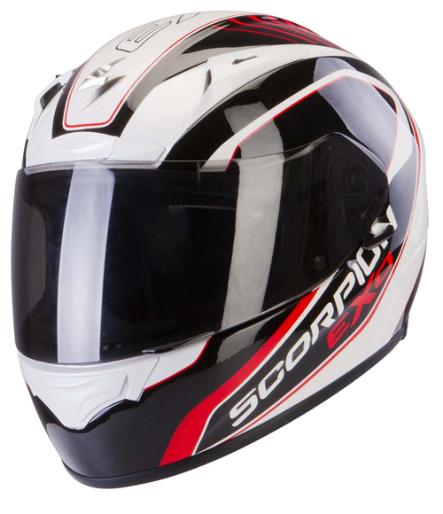 Casco integrale Scorpion Exo 2000 Air Performer Bianco Nero Ross