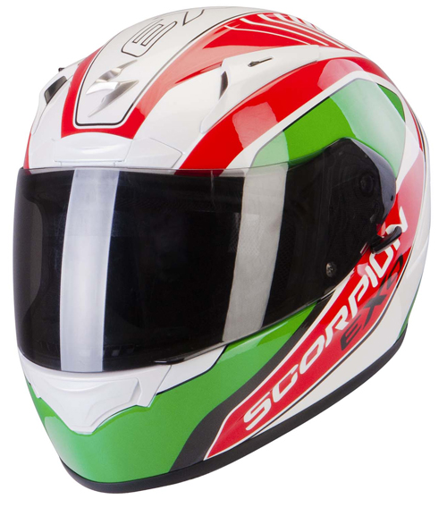 Casco integrale Scorpion Exo 2000 Air Performer Bianco Verde Ros