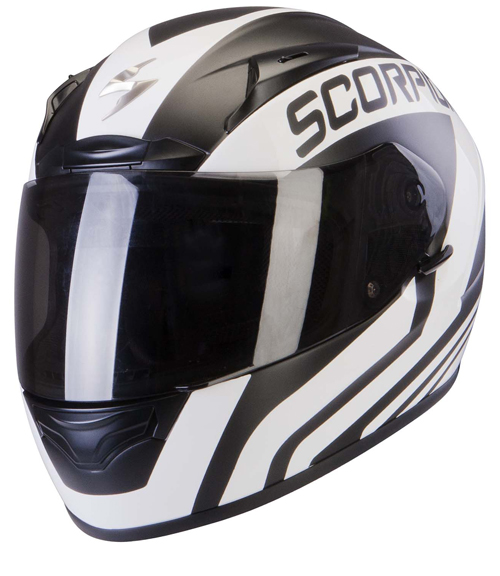 Casco integrale Scorpion Exo 2000 Air Poleman Bianco Nero Opaco