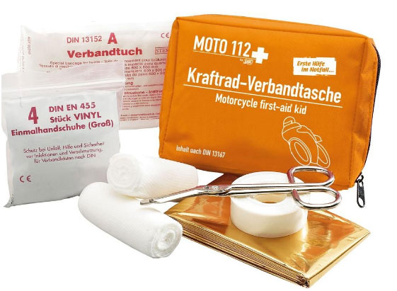 x MOTO 112+ motorcycle first-aid kit
