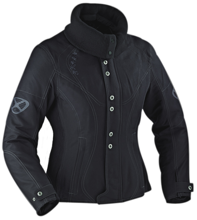 Ixon VEGA CURL woman jacket Black - Confort Size