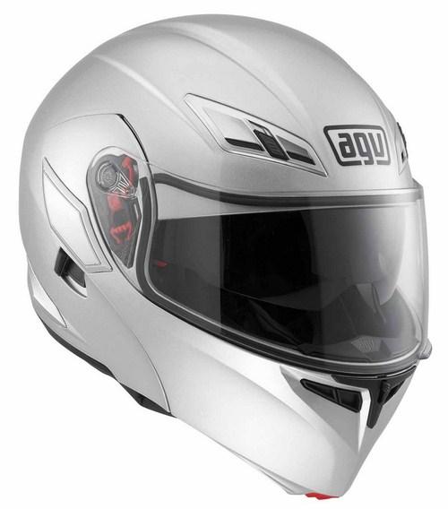 Agv Numo Evo Mono silver open-face helmet