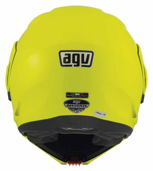Casco moto Agv Numo Evo Mono giallo fluo