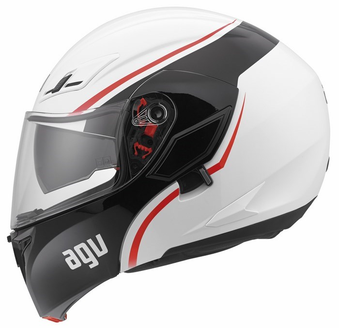 Agv GT Compact Multi Course helmet white red