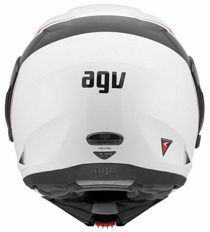 Casco moto Agv GT Compact Multi Course bianco rosso