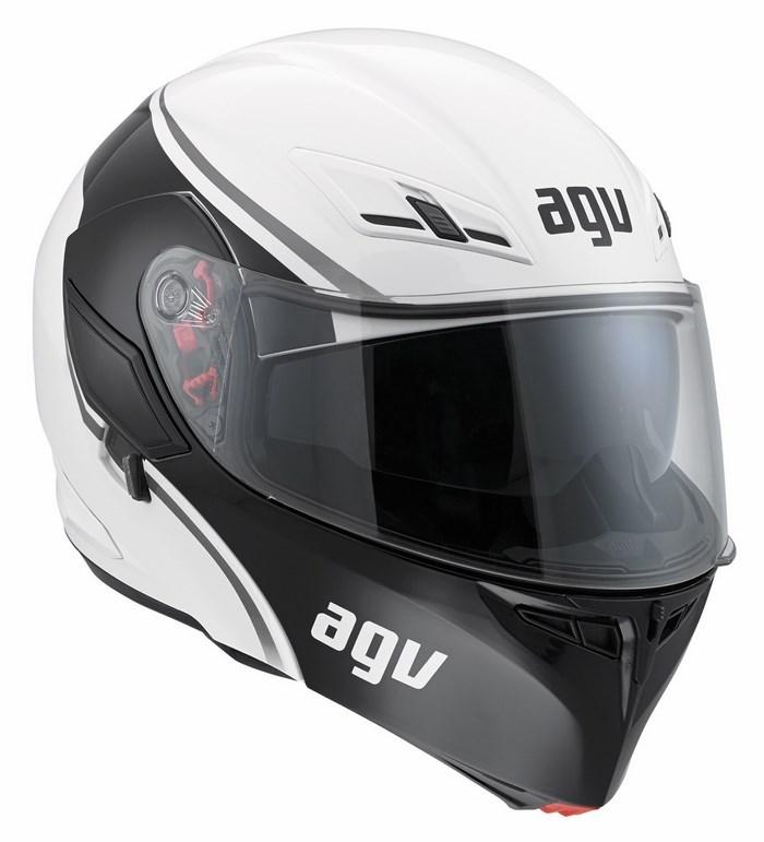 Casco moto Agv GT Compact Multi Course bianco gunmetal