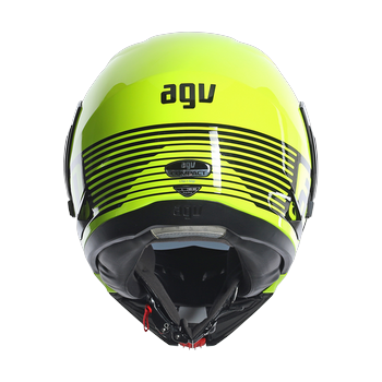Agv GT Compact Multi Audax full face fluorescent yellow gunmetal