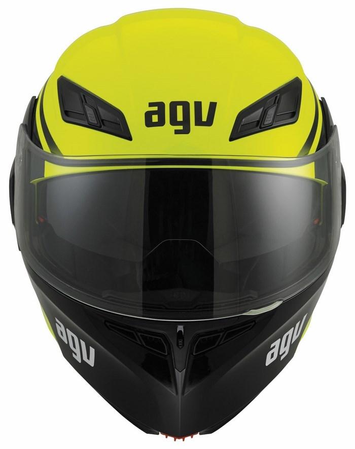 Agv GT Compact Multi helmet yellow fluo