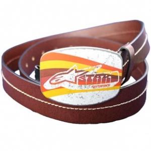 Alpinestars  Pro Vintage leather belt dark brown