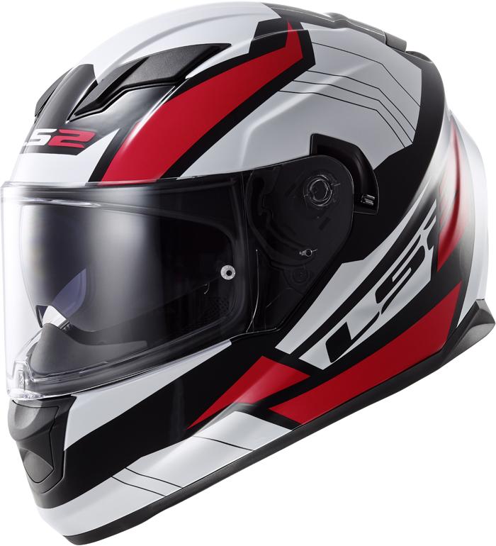 LS2 FF320 Stream Omega full face helmet White Black Red