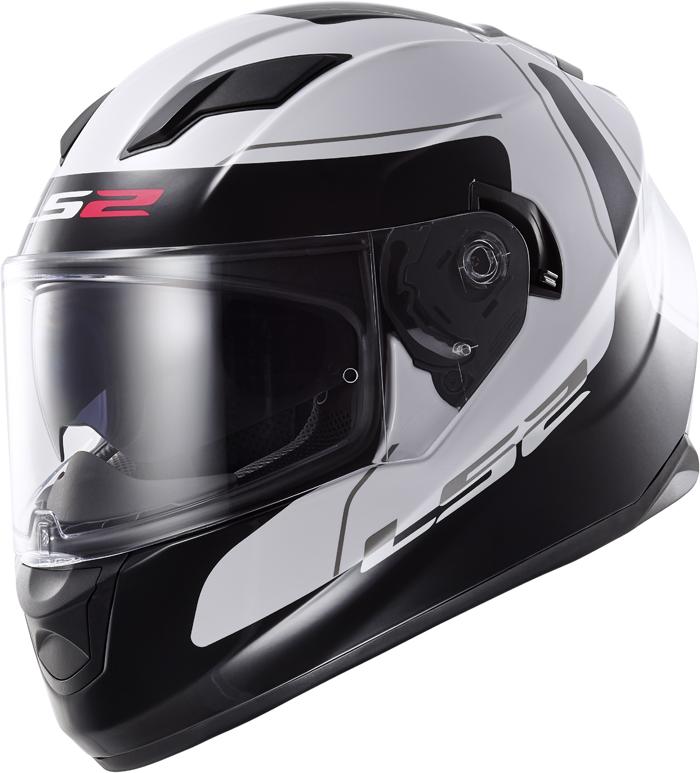 LS2 FF320 Stream Lunar full face helmet White Black
