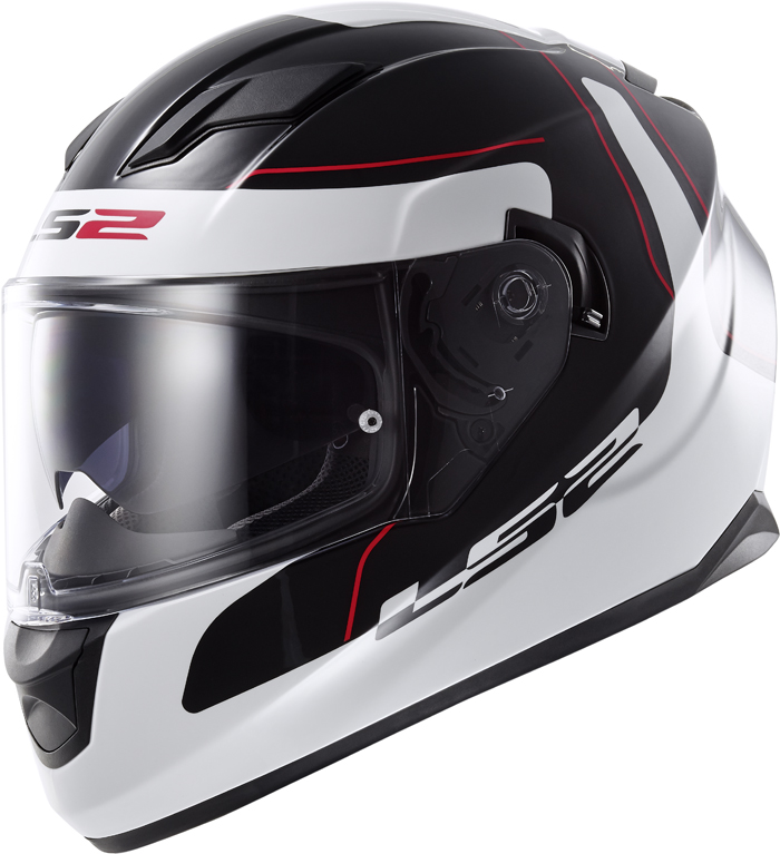 LS2 FF320 Stream Lunar full face helmet Black White
