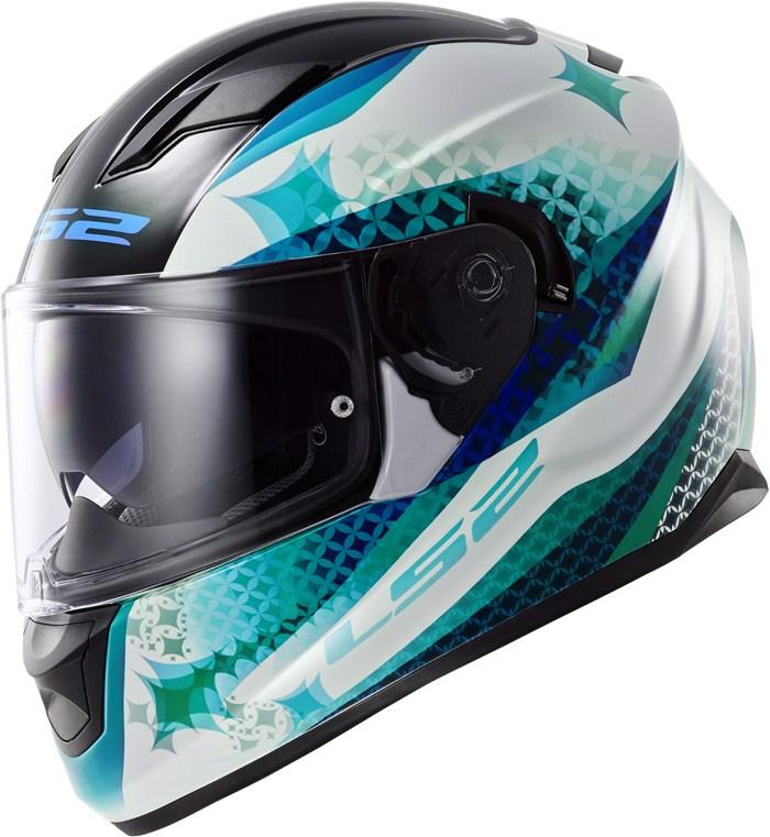 LS2 FF320 Stream Lux full face helmet White Blue Green