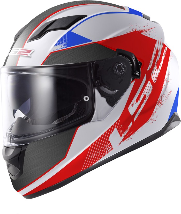 LS2 FF320 Stream Stinger full face helmet White Blue Red