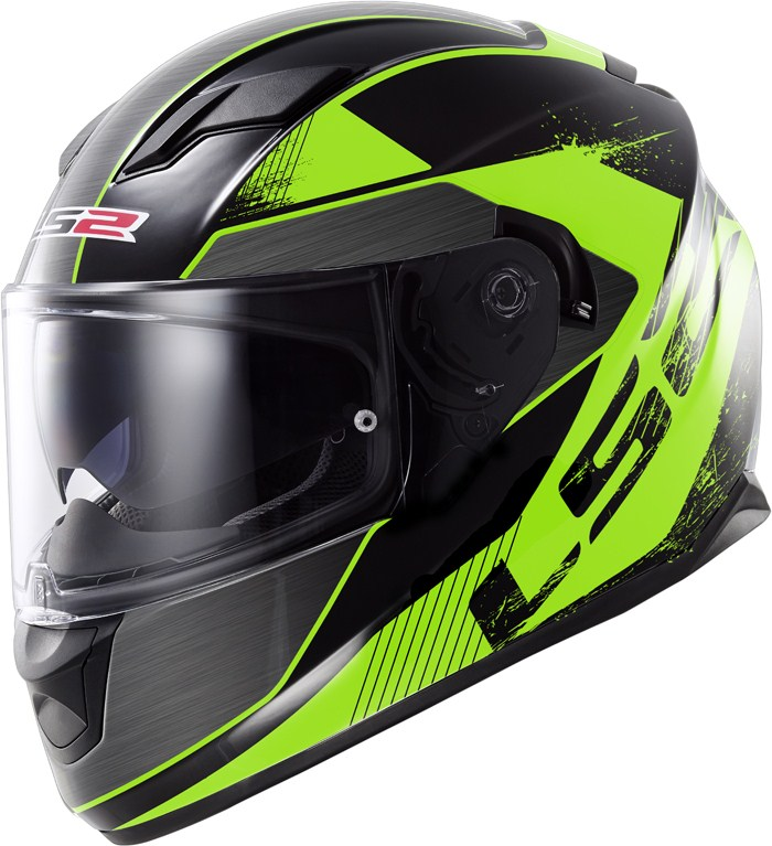 LS2 FF320 Stream Stinger full face helmet Black Green
