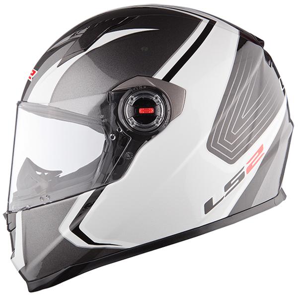 Full face helmet LS2 FF322 Silver White Race