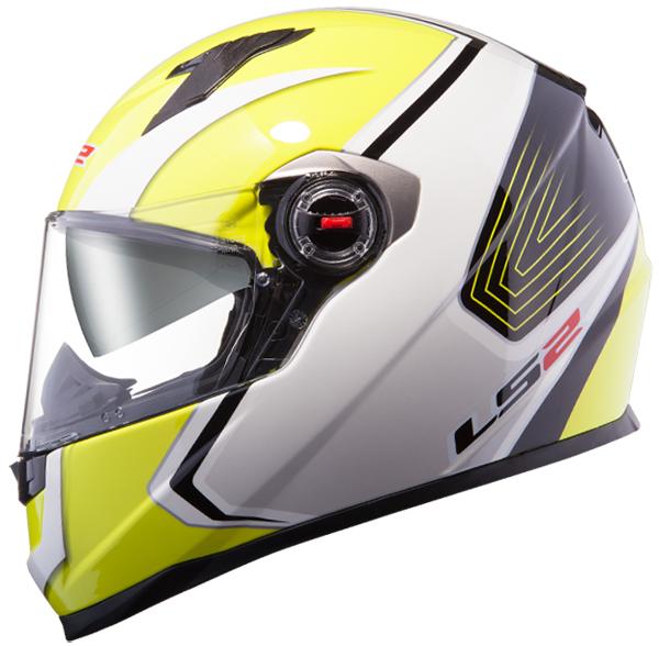 Full face helmet LS2 FF322 Race White Yellow fluo