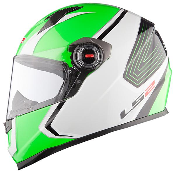 Full face helmet LS2 FF322 Race White Green