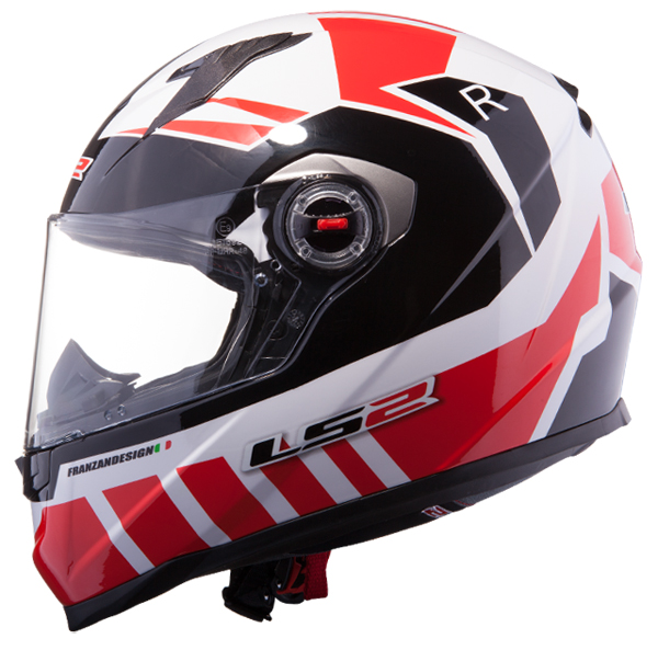 Full face helmet LS2 FF322 Voltage White Red