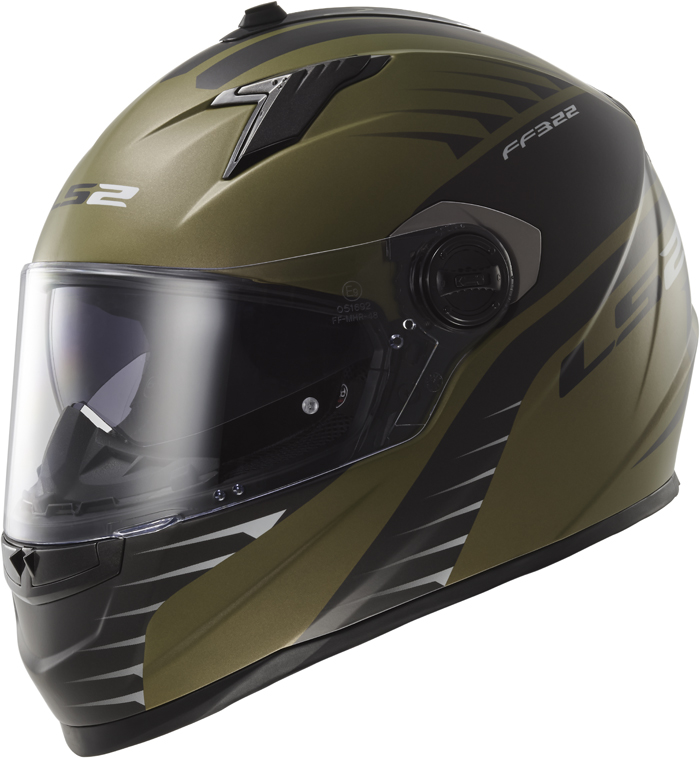 LS2 FF322 Concept II Air Fighter full face helmet military Green