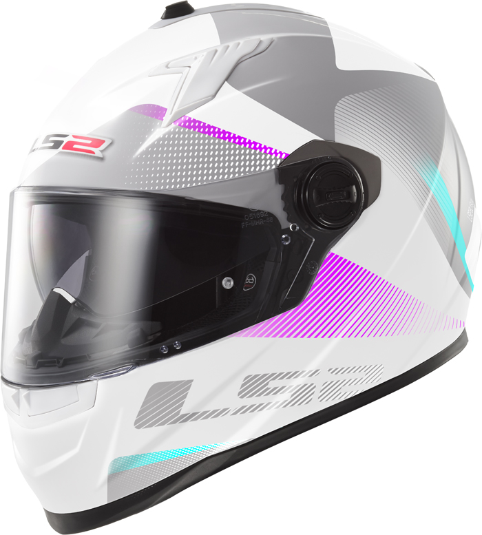 LS2 FF322 Concept II Tyrrell full face helmet White Purple