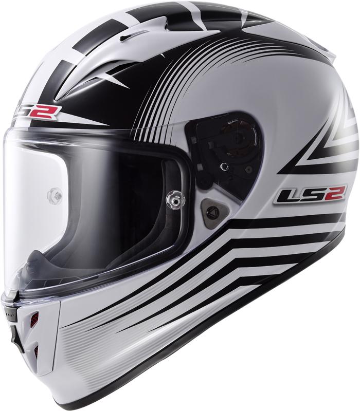 LS2 FF323 Arrow R Trax full face helmet White Black