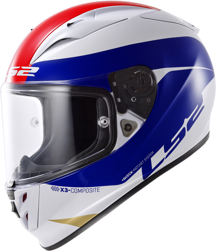 LS2 FF323 Arrow R Comet full face helmet White Blue Red