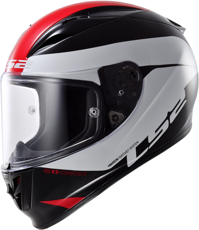 LS2 FF323 Arrow R Comet full face helmet Black White Red