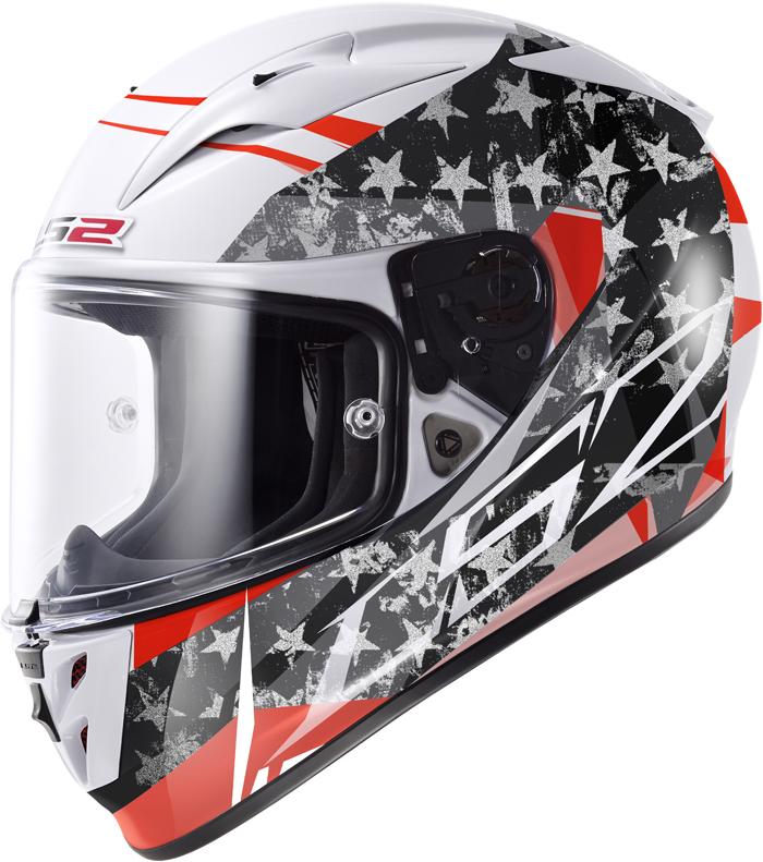 LS2 FF323 Arrow R Stride full face helmet White Titanium