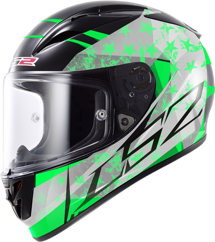 LS2 FF323 Arrow R Stride full face helmet Black Green