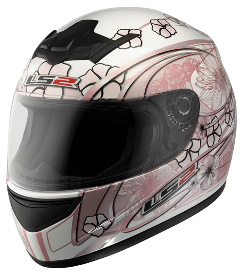 Casco moto LS2 FF351.6 Stardust II bianco- rosa lucido