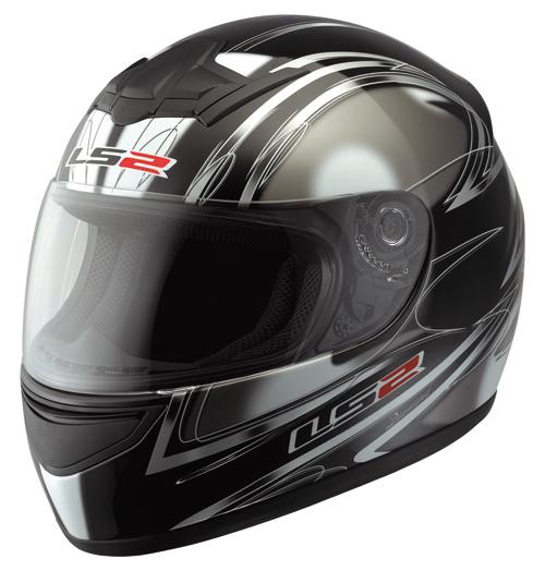 Casco moto LS2 FF351.7 Diamond nero lucido