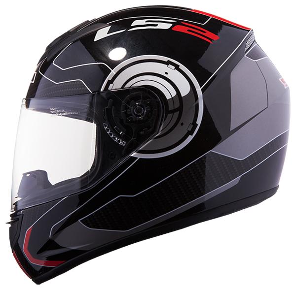 Full face helmet LS2 FF351 Atmos Black Red