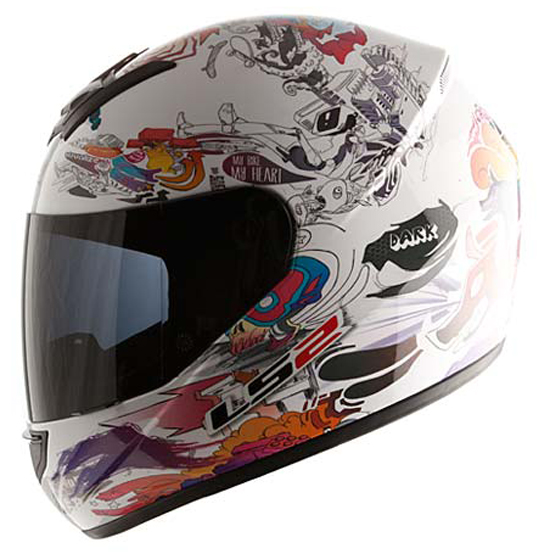 Full face helmet LS2 FF351 White Comic