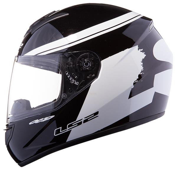 Full face helmet LS2 FF351 Black White Fluo
