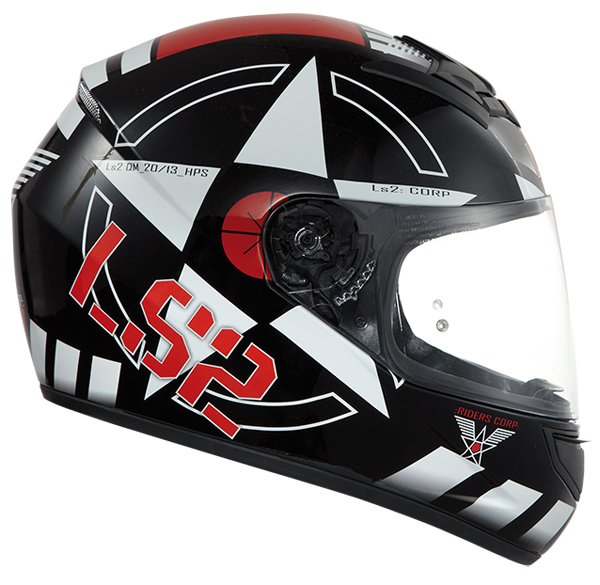Full face helmet LS2 FF351 Corps Black White Red