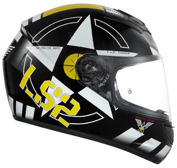 Full face helmet LS2 FF351 Corps Black White Yellow