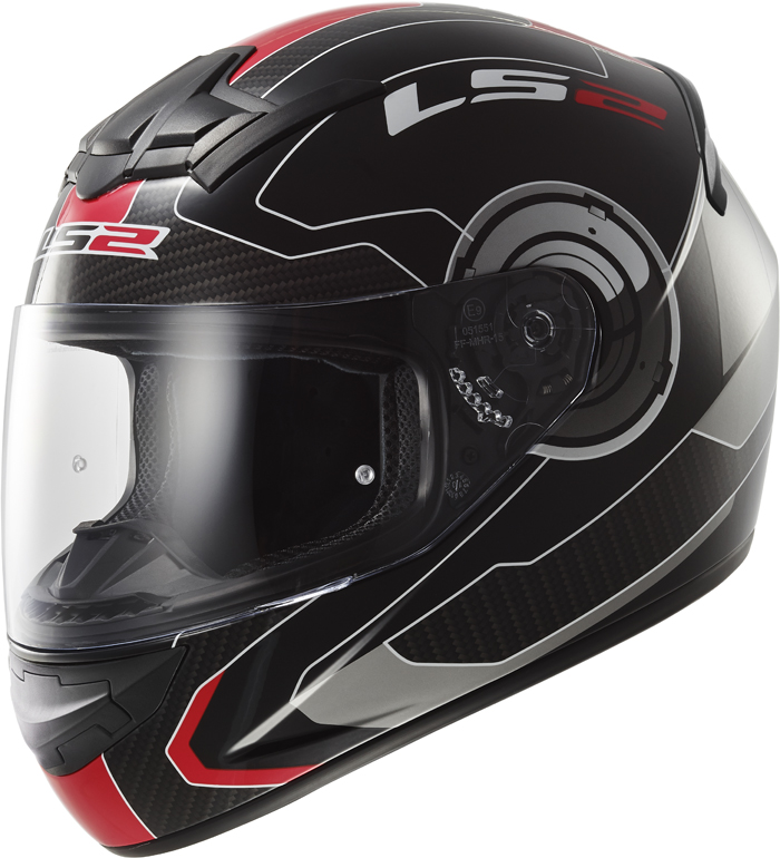 LS2 FF352 Rookie Atmos full face helmet Black Red
