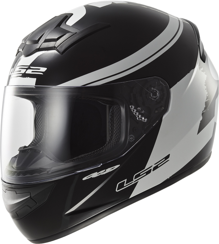 LS2 FF352 Rookie Fluo full face helmet Black White