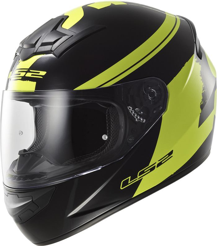 LS2 FF352 Rookie Fluo full face helmet Black Yellow