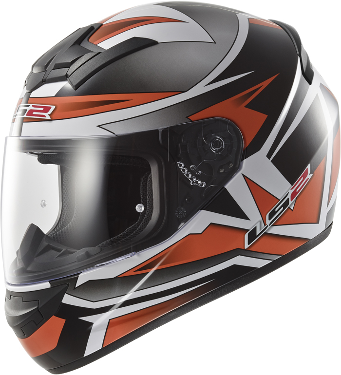 LS2 FF352 Rookie Gamma full face helmet Black Orange