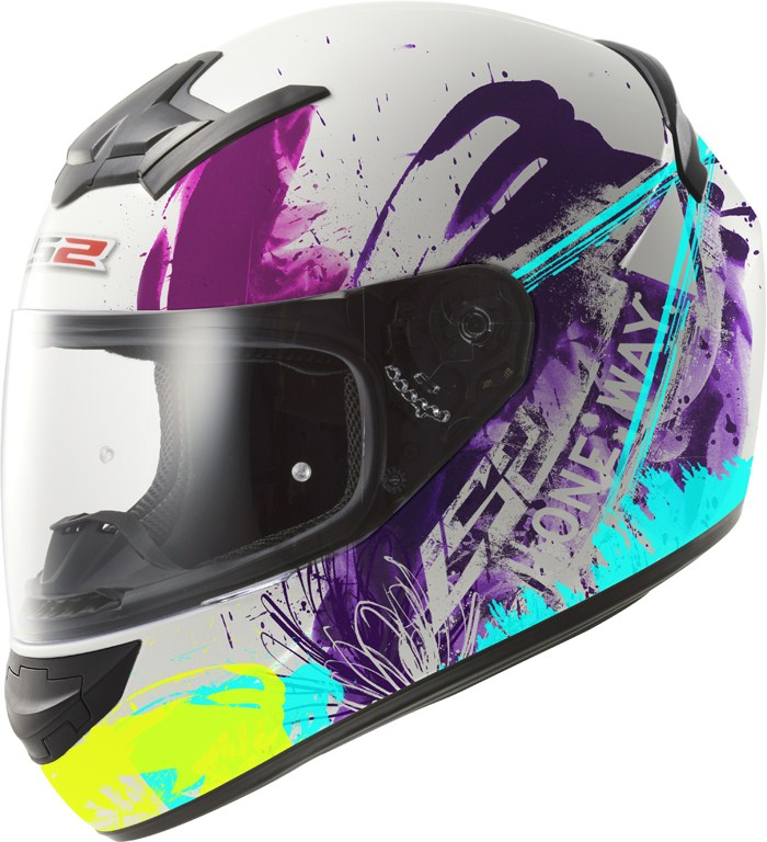 LS2 FF352 Rookie One full face helmet White Multicolor