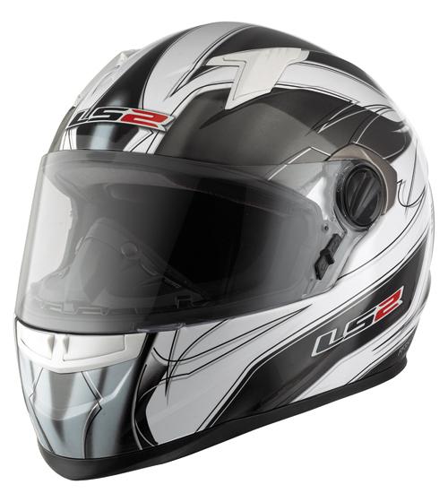 """Casco moto LS2 FF358.2 Supra con """"Air-Go System"""" bianco-titanium"""