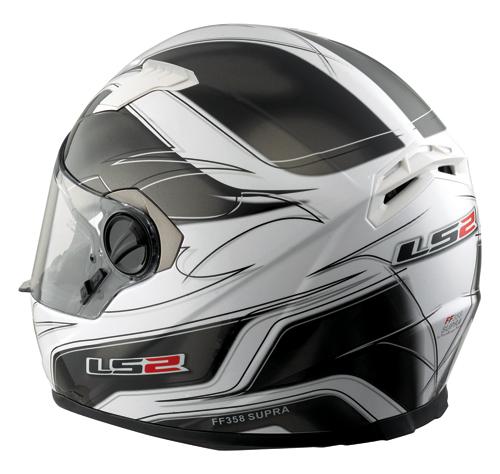 LS2 FF358.2 Supra Full Face Helmet - Col. Gloss White/Titanium