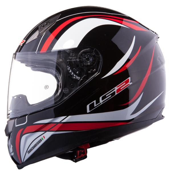 Full face helmet LS2 FF384 Black Red Phoenix