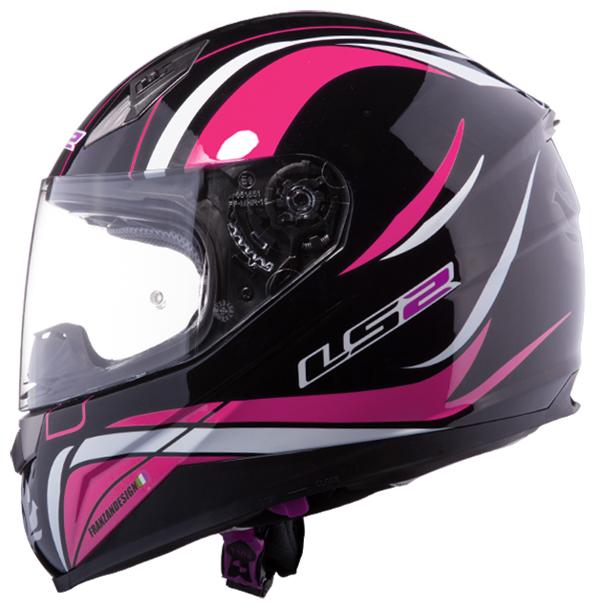 Full face helmet LS2 FF384 Black Pink Phoenix