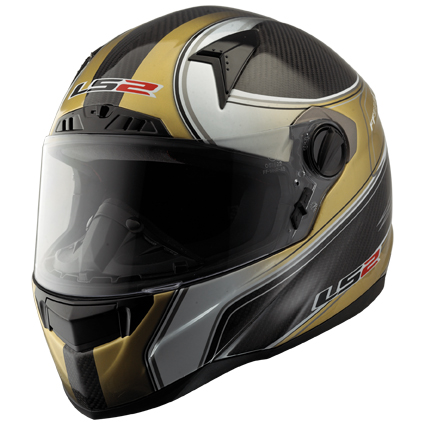 LS2 FF385 CT2 DESIRE full face helmet Carbon-Gold