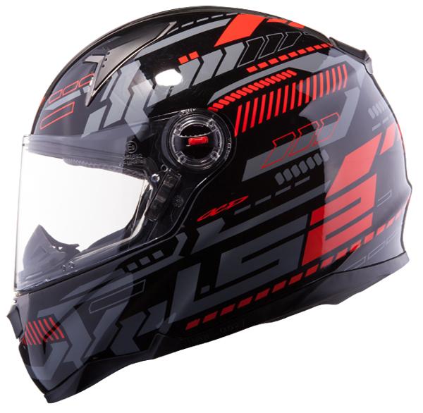 Full face helmet LS2 FF396 FT2 Tron Black Red