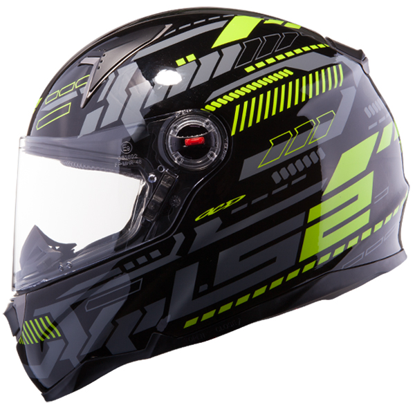 Casco integrale LS2 FF396 FT2 Tron Nero Giallo fluo